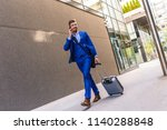 handsome young man on business... | Shutterstock . vector #1140288848