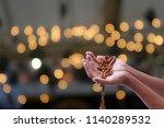 empty hands praying... | Shutterstock . vector #1140289532