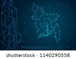 abstract mash line and point...   Shutterstock .eps vector #1140290558