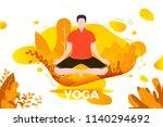 vector illustration   man in... | Shutterstock .eps vector #1140294692