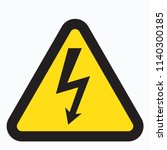 high voltage sign | Shutterstock .eps vector #1140300185