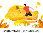 vector illustration   sporty... | Shutterstock .eps vector #1140301628
