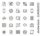 databse icon set. collection of ... | Shutterstock .eps vector #1140302522