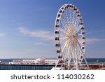 the towering brighton wheel on...