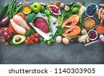 balanced diet food background.... | Shutterstock . vector #1140303905