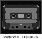 stylized audio cassette. vector ... | Shutterstock .eps vector #1140308042