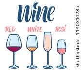 wine line art icons collection... | Shutterstock .eps vector #1140314285