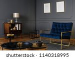 real photo of a navy blue...   Shutterstock . vector #1140318995