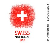 swiss national day. colorful...   Shutterstock .eps vector #1140321035