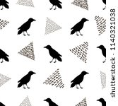 seamless pattern with black...   Shutterstock .eps vector #1140321038