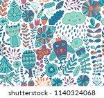 vector forest design  floral... | Shutterstock .eps vector #1140324068
