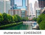ogden slip  in chicago  illinois   Shutterstock . vector #1140336335