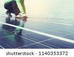 engineer team working on...   Shutterstock . vector #1140353372