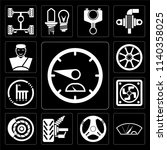set of 13 simple editable icons ...   Shutterstock .eps vector #1140358025