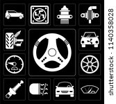 set of 13 simple editable icons ...   Shutterstock .eps vector #1140358028