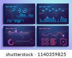 infographic template with... | Shutterstock .eps vector #1140359825