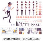 female security guard character ... | Shutterstock .eps vector #1140360638
