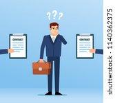 businessman decides what... | Shutterstock .eps vector #1140362375