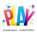 play colorful word vector... | Shutterstock .eps vector #1140370922