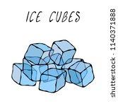 ice cubes. summer bar... | Shutterstock .eps vector #1140371888