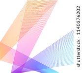 design elements. curved sharp... | Shutterstock .eps vector #1140376202