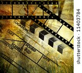 retro movies background - stock photo