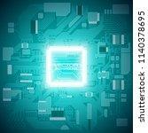 circuit board. electronic... | Shutterstock .eps vector #1140378695