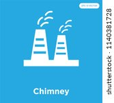chimney vector icon isolated on ... | Shutterstock .eps vector #1140381728