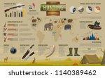 hunting open season... | Shutterstock .eps vector #1140389462