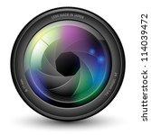 illustration of camera lens... | Shutterstock .eps vector #114039472