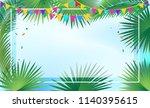 sukkot festival invitation... | Shutterstock .eps vector #1140395615
