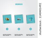set of industry icons flat... | Shutterstock .eps vector #1140401492