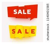 vector paper cut banner.... | Shutterstock .eps vector #1140401585