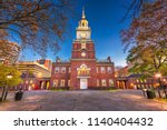 independence hall in... | Shutterstock . vector #1140404432