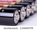 several aa batteries in... | Shutterstock . vector #114040795