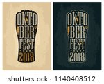 typography poster. beer glass... | Shutterstock .eps vector #1140408512