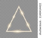 triangle with lights and... | Shutterstock .eps vector #1140414422