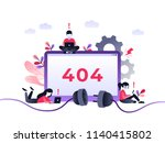 flat concept 404 error page or... | Shutterstock .eps vector #1140415802