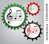 music violin clef sign. g clef...   Shutterstock .eps vector #1140418598