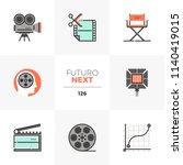 modern flat icons set of film... | Shutterstock .eps vector #1140419015