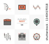 modern flat icons set of voice... | Shutterstock .eps vector #1140419018