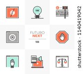 modern flat icons set of... | Shutterstock .eps vector #1140419042