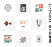 modern flat icons set of sound... | Shutterstock .eps vector #1140419045