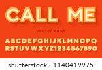 vector volume letters made of... | Shutterstock .eps vector #1140419975