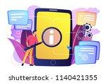 user looking for information in ... | Shutterstock .eps vector #1140421355