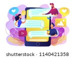 tablet with users communicating ...   Shutterstock .eps vector #1140421358