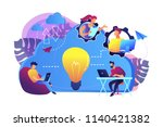 coworking team of users... | Shutterstock .eps vector #1140421382