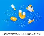 attracting online customers.... | Shutterstock .eps vector #1140425192