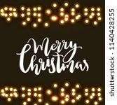 merry christmas lettering.... | Shutterstock .eps vector #1140428255