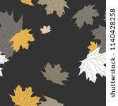 maple leaves seamless pattern.... | Shutterstock .eps vector #1140428258